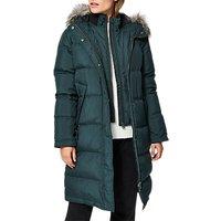 Selected Femme Jona Padded Faux Fur Collar Jacket, Scarab