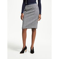 Boden Tweed Pencil Skirt, Navy and Ivory