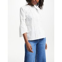 Boden Lace Pintuck Top, Ivory