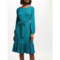 Boden Holly Jersey Dress, Drake/Navy Spot