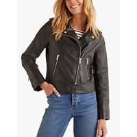 Boden Morleigh Leather Jacket, Black