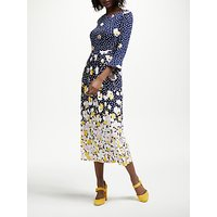 Boden Blossom Jersey Dress, Navy Painted Peony