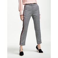 Boden Tweed 7/8 Trousers, Navy Ivory Dogstooth