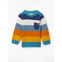 John Lewis & Partners Baby Stripe Knit Jumper, Multi