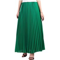 Jolie Moi Pleated Crepe Maxi Skirt
