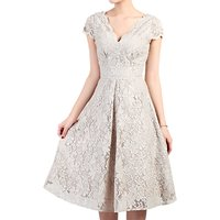 Jolie Moi Lace Prom Dress, Light Taupe