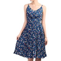 Jolie Moi Floral Pleated Dress, Teal