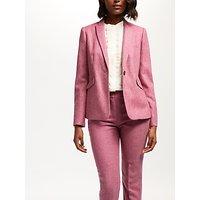 Boden Bath Tweed Blazer, Pink Herringbone