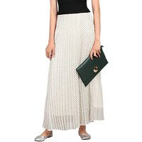 Jolie Moi Spot Print Pleated Maxi Skirt