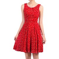 Jolie Moi Floral Print Chiffon Dress, Red
