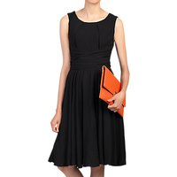 Jolie Moi Wrap Belted Dress, Black