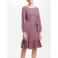 Boden Holly Jersey Dress, Pop Peony Trellis