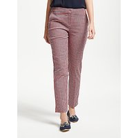 Boden Richmond 7/8 Trousers, Navy/Red Check