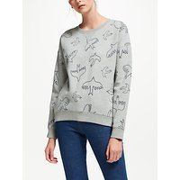 Boden Arabella Sweatshirt, Grey Flying Birds