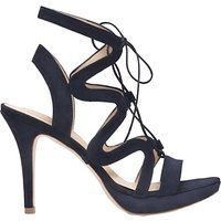 shop for Sargossa Chic Lace Up Stiletto Heel Sandals, Navy Suede at Shopo