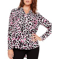 Damsel in a Dress Urban Leopard Blouse, Pink