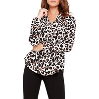 Damsel in a Dress Urban Leopard Blouse, Camel
