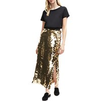 French Connection Emilia Sequin Midi Skirt