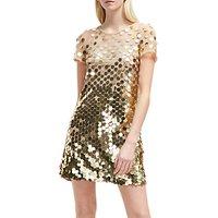 French Connection Bashu Sparkle Tunic Dress, Gold