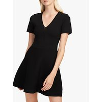 French Connection Ellie Fitted Flared Dress, Black