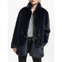urbancode Bailey Faux Fur Coat, Navy