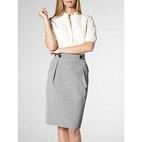 L.K.Bennett Mableen Cotton Skirt, Blue Cream