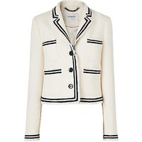 L.K.Bennett Susanna Cream Cotton Jacket, Cream