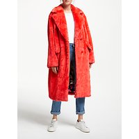 Essentiel Antwerp Remire Faux Fur Coat, Red