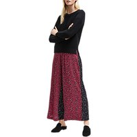 French Connection Aubine Culotte Trousers, Mimosa/black