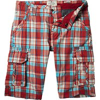 Fat Face Boys' Tenby Shorts, Washed Red