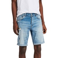 AllSaints Isher Distressed Denim Shorts, Indigo