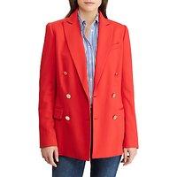 Lauren Ralph Lauren Ryen Double Breasted Blazer, Crimson