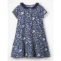 Mini Boden Girls' Jersey Dress, Blue