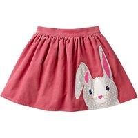 Mini Boden Girls' Applique Rabbit Skirt, Rose Pink