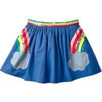 Mini Boden Girls' Applique Rainbow Skirt, Cobalt Blue