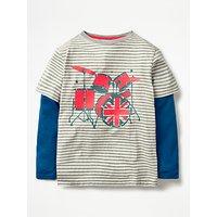 Mini Boden Boys' Stripe Music T-Shirt, Grey