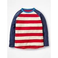 Mini Boden Boys' Stripe T-Shirt, Red
