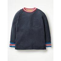Mini Boden Boys' Stripe Trim T-Shirt, School Navy