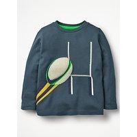 Mini Boden Boys' Sports T-Shirt, Blue