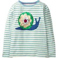 Mini Boden Girls' Colour Change Sequin T-Shirt, Blue
