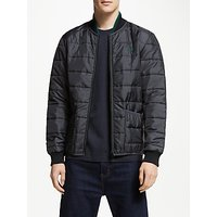 Fred Perry Icon Quilted Bomber Jacket, Black