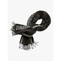 Betty Barclay Chevron Scarf, Black/cream