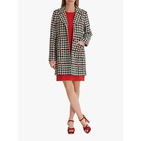 Betty Barclay Houndstooth Tailored Coat, Black/Red