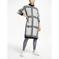 PATTERNITY + John Lewis Micro Macro Knitted Dress, Grey