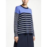 John Lewis & Partners Striped Colour Block Sweatshirt