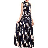 Jolie Moi Print Turtleneck Maxi Dress, Blue Multi