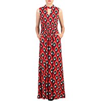 Jolie Moi Print Turtleneck Maxi Dress, Red