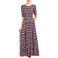 Jolie Moi Geometric Print Half Sleeve Maxi Dress, Multi
