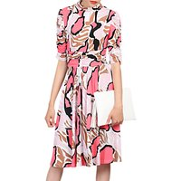 Jolie Moi Print Turtleneck Dress, Pink