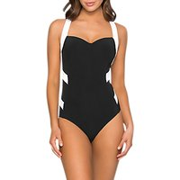 JETS Infinity Classique Swimsuit, Black/White